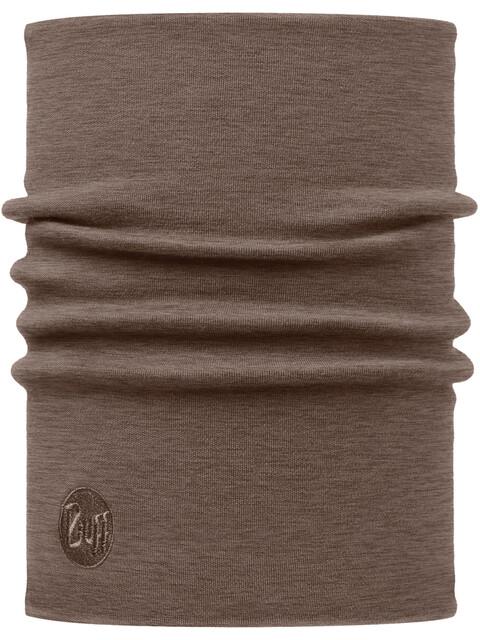 Buff Heavyweight Merino Wool Neck Tube Solid Walnut Brown